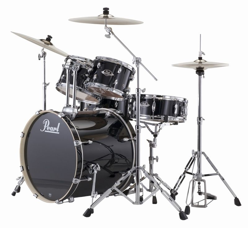 pearl export exx 22 fusion jet black with sabian sbr cymbals. Black Bedroom Furniture Sets. Home Design Ideas